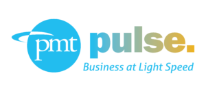 PMT Pulse logo: Business at Light Speed.